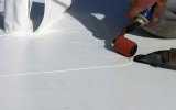 Hot Air Seam Welding on Membrane Roof