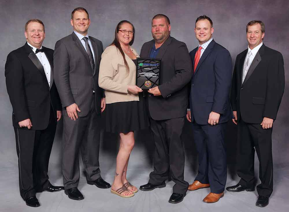 2016 Durolast Award presented to Precision Roofing