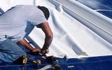 Install Fasteners at Membrane Seams